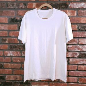 Lululemon White 5 Year Basic Short Sleeve T-shir